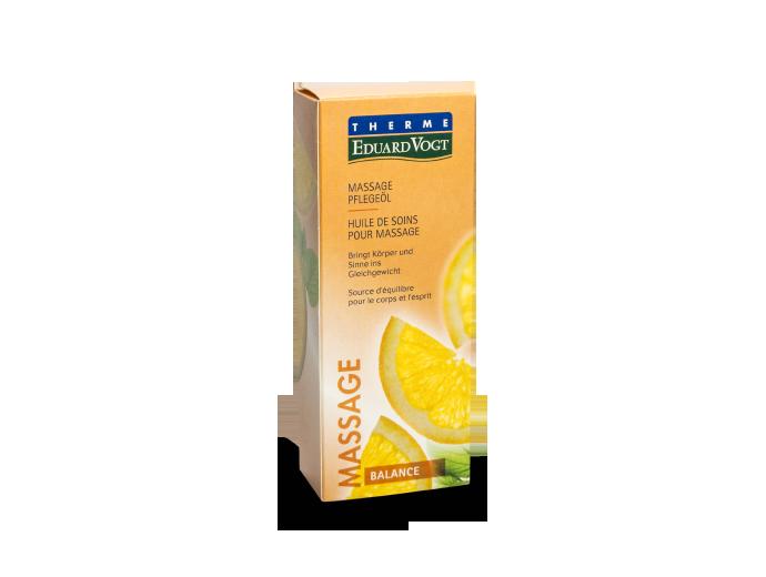 Massage Pflegeöl Balance in Verpackung